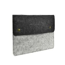 GRAY Felt Sleeve Bag Case with Button Closure for11-inch Macbook Air / Ultrabook