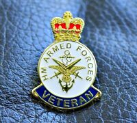 ARMED FORCES ENAMEL PIN BADGE UK VETERAN REMEMBRANCE DAY 2019