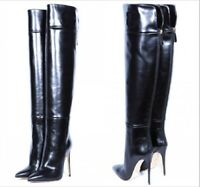 Women High Stiletto Heel Over Knee Thigh Boots Patent Leather Shoes Clubwear Hot