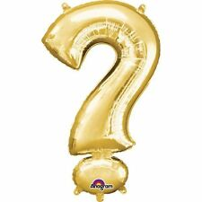 "Symbol ? Gold Foil Balloon 16"" 40cm Air Fill Age Name Birthday Anniversary"