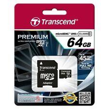 Cartes mémoire Transcend pour téléphone mobile et assistant personnel (PDA), 64 Go