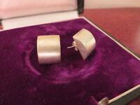 Entzückende 925 Silber Ohrringe Clips Schlicht Geometrie Modern Futuristisch Top