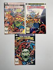 MARVEL SUPER HERO CONTEST OF CHAMPIONS #1-3 COMPLETE MINI-SERIES - MARVEL/1982