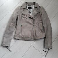 Details zu Tigha Damen Lederjacke Leder Blouson Lexa Vanilla beige Gr. L UVP: 329,90 €