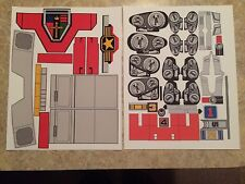 NEW Jumbo Machinder Red Voltron Golion Shogun Warriors - Sticker Decals - VINYL