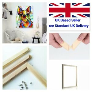 DIY Paint By Number 40*50cm Frames Wooden Strips Kits for Canvas Oil Painting UK