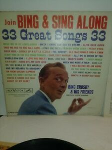 Bing Crosby & His Friends – Join Bing & Sing Along, RCA Victor, LPM-2276, 1960