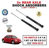 2x REAR SHOCK ABSORBERS for VW BEETLE 1.4 1.6 1.8T 1.9 TDi 2.0 2.3 2.5 1998-2010