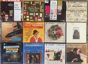 Lot of 12 Vintage Easy Listening 4 Track Reel-to-Reel Tapes