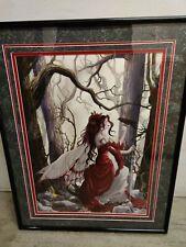 Nene Thomas Always Framed Le Print Signed Fairy Faery Crow Bird Forest