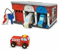 Melissa & Doug KEYS & CARS RESCUE GARAGE Pre-School Wooden Toys BN