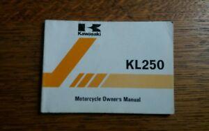 KAWASAKI  KL 250 C2 OWNERS MANUAL / HANDBOOK / BOOKLET