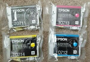 Epson T0715 Ink Multipack x 4 T7011 Black T7012 Cyan T7013 Magenta T7014 Yellow