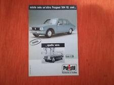 "PUBBLICITA' ORIGINALE ADVERTISING MODELLINO ""PEUGEOT 504 GL"" POLISTIL del 1977"
