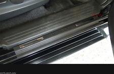 MATTE MATT BLACK SILL SCUFF PLATE FOR ISUZU DMAX D-MAX 2012-2017 4 DOORS PICKUP