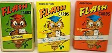 3 Warren Paper Products FLASH CARDS:  ADDITION, SUBTRACTION & DIVISION Complete