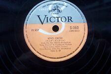 ELVIS PRESLEY 78 RPM  JAPAN VICTOR S-360 KING CREOLE / LOVER DOLL SEPT 1958