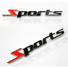 3D Sports Word letter Chrome metal Car Sticker Emblem Badge Decal Auto Decor