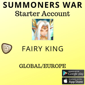 Summoners War Light Fairy King Oberon Starter Account