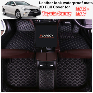 3D Moulded PU leather Waterproof Car Floor Mats for Toyota Camry 2012 - 2017