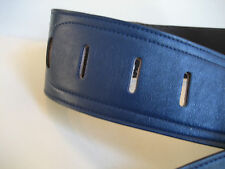 UNIQUE MID BLUE NAPPA LEATHER GUITAR STRAP