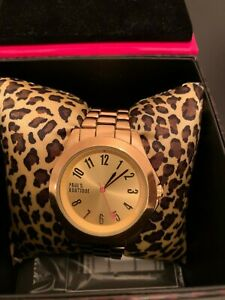 Paul's Boutique gold watch in box with authentic card RRP £40