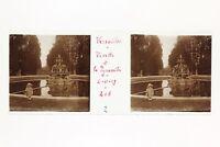 Francia Versailles Foto Placa De Cristal Estéreo Aficionado #M