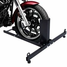 1800 lbs Adjustable Motorcycle Wheel Chock Upright Stand Support Powder Coated