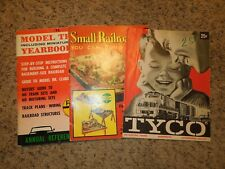 Vintage Lot of Model Train Magazines- Tyco, Yearbook, Small Railroads