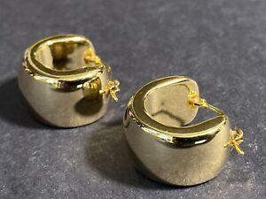 Milor Italy 14k Yellow Gold over Resin Hoop Earrings 6.5g 3/4 Inch