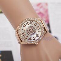 Women's Bracelet Stainless Steel Crystal Diamonds Dial Analog Quartz Wrist Watch