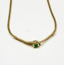 Echte Edelstein-Halsketten & -Anhänger im Collier-Stil mit Smaragd