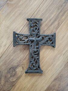 Decorative Cast Iron Cross 9x7 Inch
