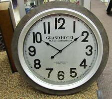 """LARGE GALLERY WOODEN WALL CLOCK 31"""" 52141"""