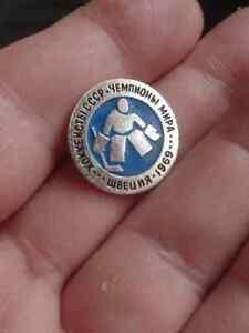ICE HOCKEY - 1969 Switzerland, USSR Team - Champions of Peace, pin badge
