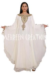 Moroccan Maxi Dubai Abaya Bridal Bell Sleeve Kaftan Farasha Vary Fancy Dress