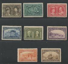 Canada 1908 Quebec Tercentenary issue complete #96-103 mhr