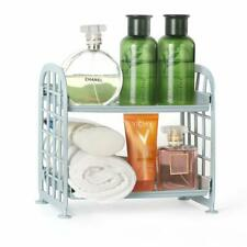 2 Tier Countertop Standing Rack Bathroom Cosmetic Storage Organizer Desk Rack