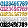 """30"""" Giant 0-9 Numbers Foil Balloons Baloons Ballon Air Fill Only Self-inflating"""