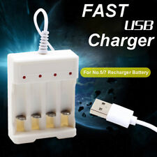 1pc 1.2V Universal 4 Slot AA/AAA Rechargeable Battery Charger Adapter USB Plug-
