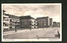 Braunschweig, Blick in die Siegfriedstrasse, Ansichtskarte 1935