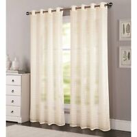 RT Designers Wanda Grommet Window Curtain Panel 54 x 90 Beige