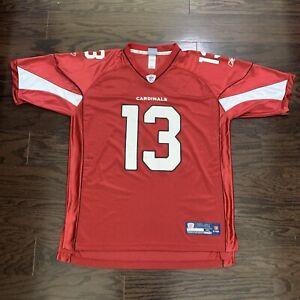 Kurt Warner #13 Arizona Cardinals NFL Football Super Bowl Reebok Jersey Mens XL