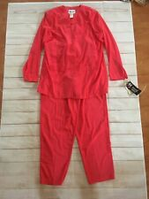 Nwt Vintage Maggie Sweet Pink Two Piece Leisure Suit Outfit Size Medium