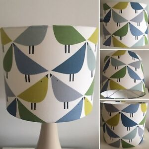 Scion Lintu Gecko/ Pacific/Glazier Fabric Lampshade (15 20 25 30 35 40cm)