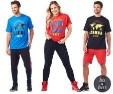 NWT Zumba Fitness Zumba 2020 Tees Shirt Red OneSizeFitsAll  100% Cotton