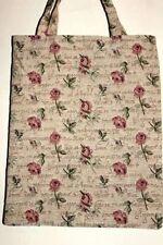 Rote Rosen Blumen Einkaufsbeutel Tasche Gobelin  Einkaufstasche Tapestry Bag