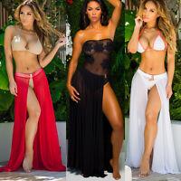 Women Cover Up Summer Lace Crochet Bikini Swimwear Beach Dress Bathing Suit USA