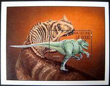 2002 Mnh Sierra Leone Dinosaur Stamps Souvenir Sheet Allosaurus Prehistoric