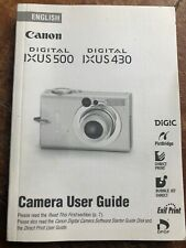 Canon Digital Ixus 500 / Ixus 430 Camera User Guide